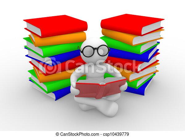 Books - csp10439779