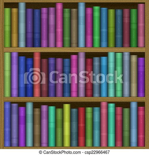 Bookshelf generated hires texture - csp22966467