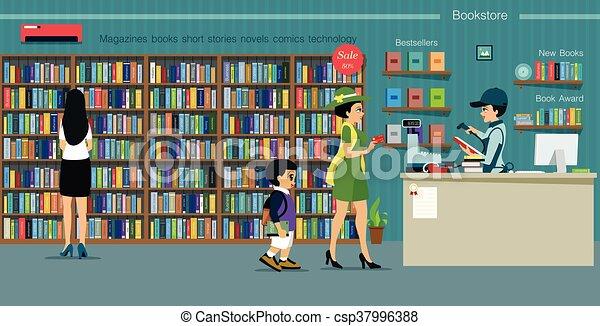 Bookstore - csp37996388