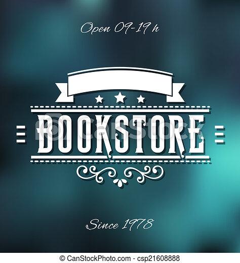 Bookstore Label - csp21608888
