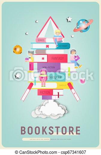 Bookstore Poster - csp67341607