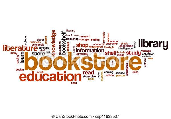 Bookstore word cloud - csp41633507