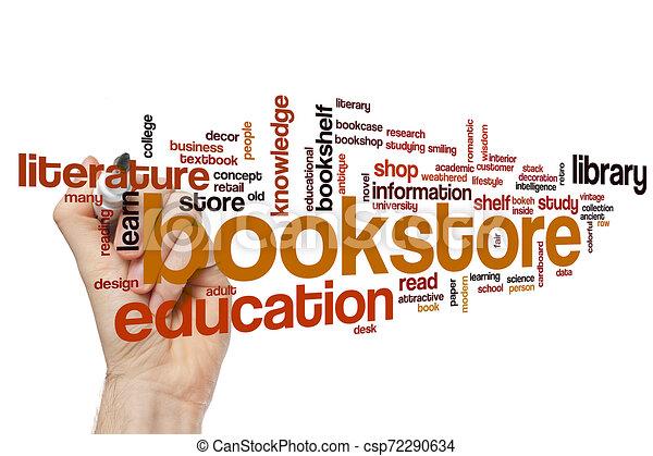 Bookstore word cloud - csp72290634