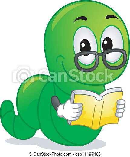 bookworm mascot mascot illustration featuring a worm clip art rh canstockphoto com bookworm clipart free bookworm clipart black and white