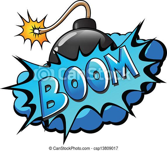 boom comic blast expression vector text