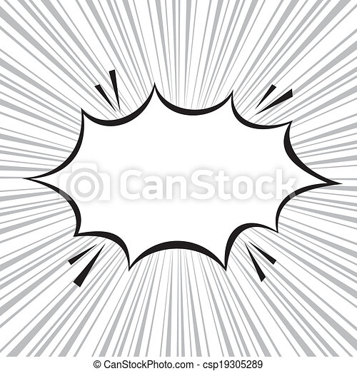 Boom comic speech bubble with radial speed, vector illustration - csp19305289