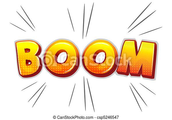 boom text - csp5246547