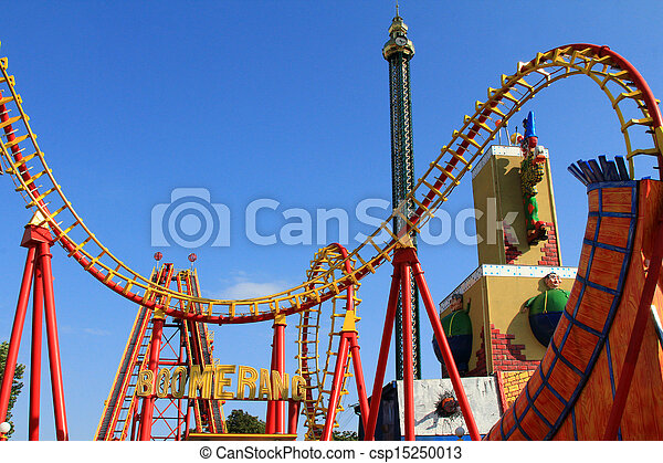 Boomerang - A Roller coaster - csp15250013