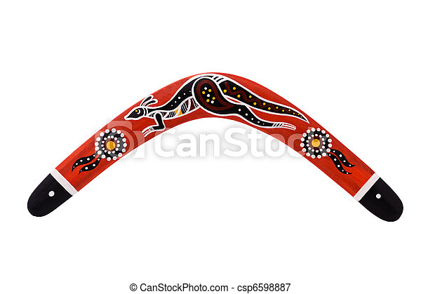 Boomerang, isolated on a white background - csp6598887
