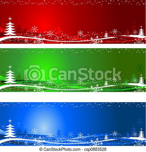 boompje, achtergronden, kerstmis - csp0883528