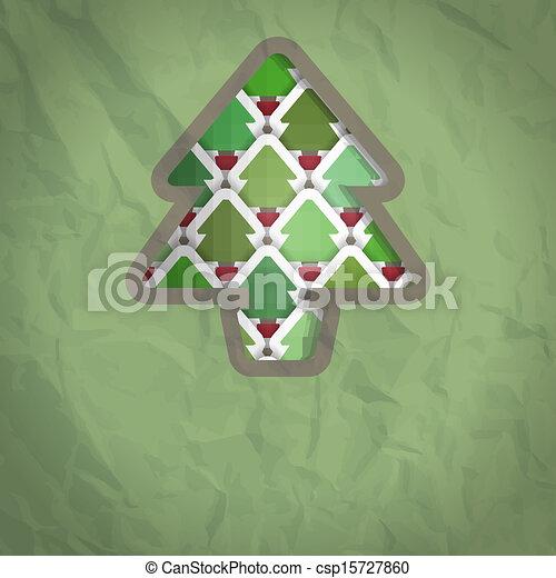 boompje, bouwkarton, kerstmis, achtergrond - csp15727860