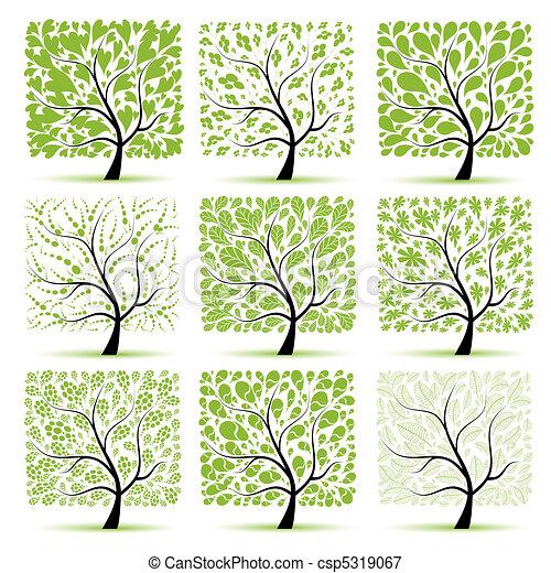 boompje, jouw, kunst, verzameling, ontwerp - csp5319067