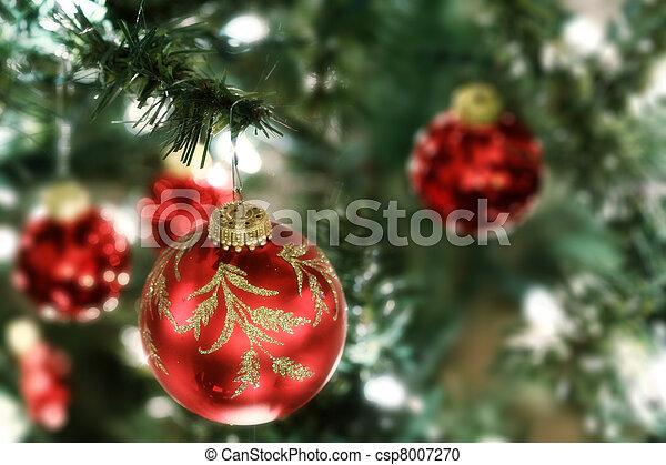 boompje, kerstballen - csp8007270