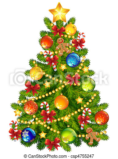 boompje, kerstmis - csp4755247