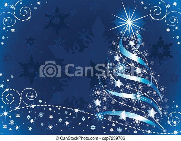 boompje, kerstmis, het fonkelen - csp7239706
