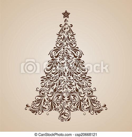 boompje, kerstmis - csp20668121