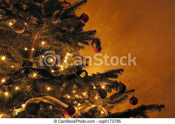 boompje, kerstmis - csp0173795