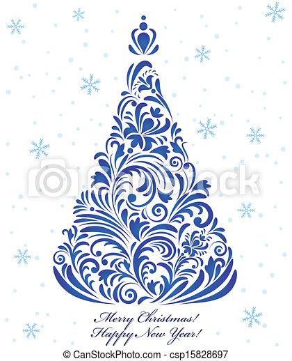 boompje, kerstmis - csp15828697