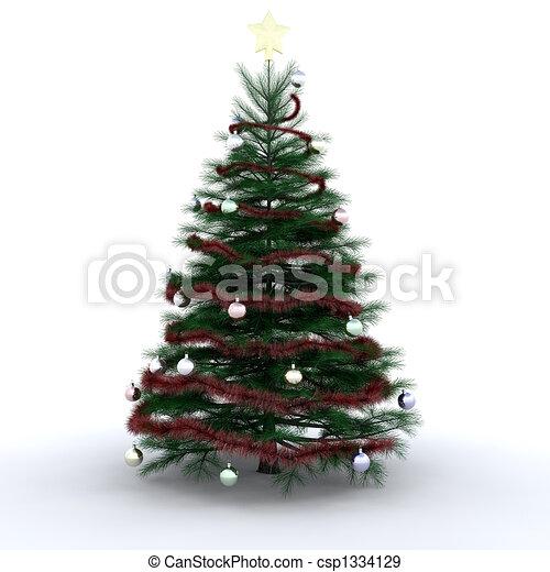boompje, kerstmis - csp1334129
