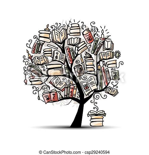 boompje, schetsboek, ontwerp, jouw - csp29240594