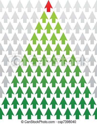boompje, thema, kerstmis, zakelijk, richtingwijzer - csp7398040