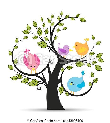 boompje, vogels - csp43905106
