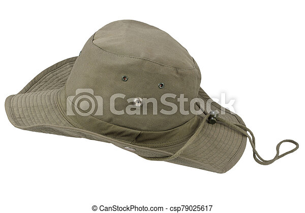 Boonie hat isolated on white background - csp79025617