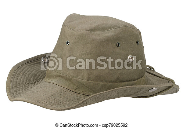 Boonie hat isolated on white background - csp79025592