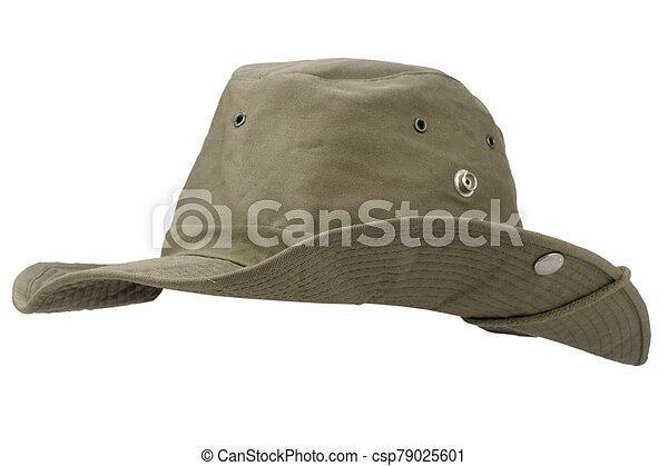Boonie hat isolated on white background - csp79025601