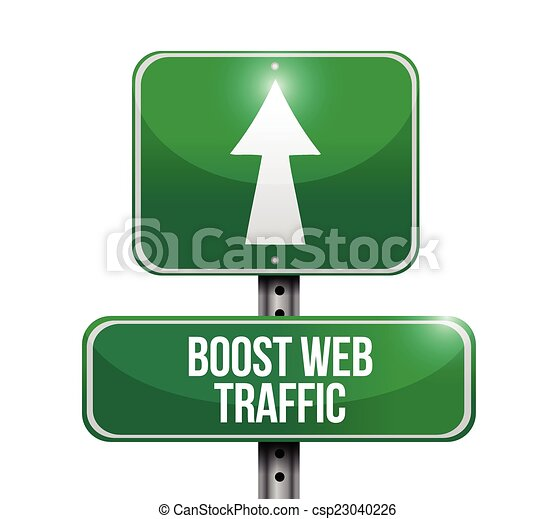 boost web traffic street sign illustration - csp23040226