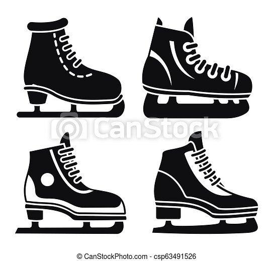 boot ice skates icon set simple style boot ice skates icon set simple set of boot ice skates vector icons for web design https www canstockphoto com boot ice skates icon set simple style 63491526 html