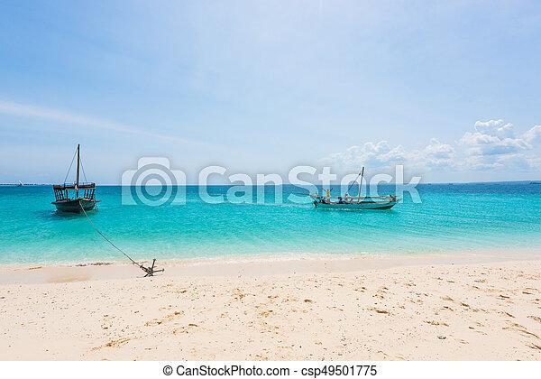 bootjes, verankeerd, seashore - csp49501775