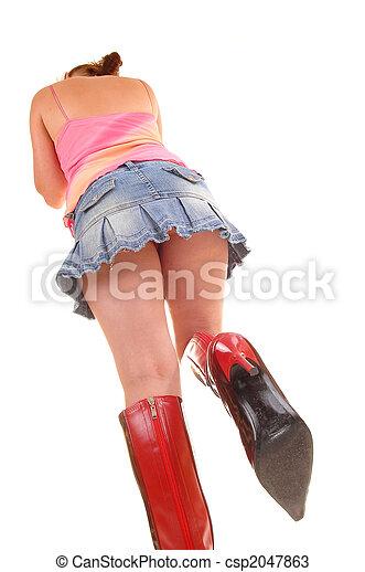 super populaire 4a5d5 28a9f boots., femme, jupe