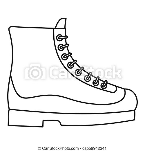 Boots icon, outline style