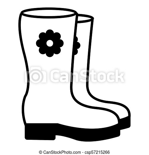 Boots icon , outline style