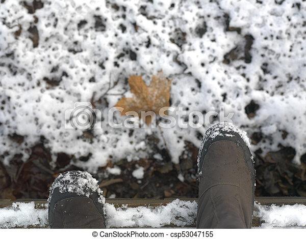 Boots On Snow - csp53047155