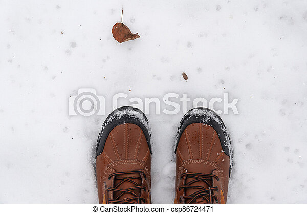 boots on the snow - csp86724471