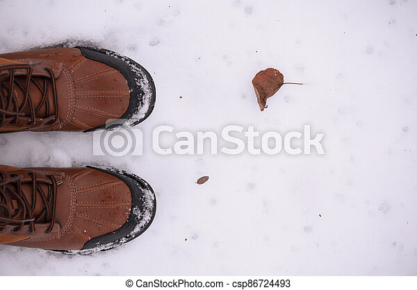 boots on the snow - csp86724493