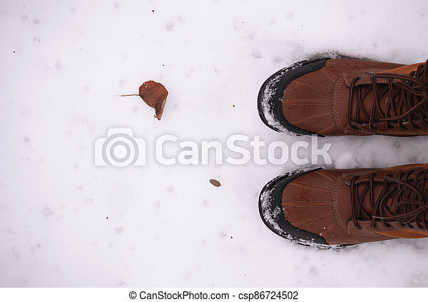 boots on the snow - csp86724502