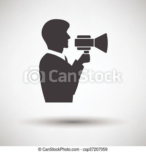 Hombre con ícono de boquilla - csp37207059