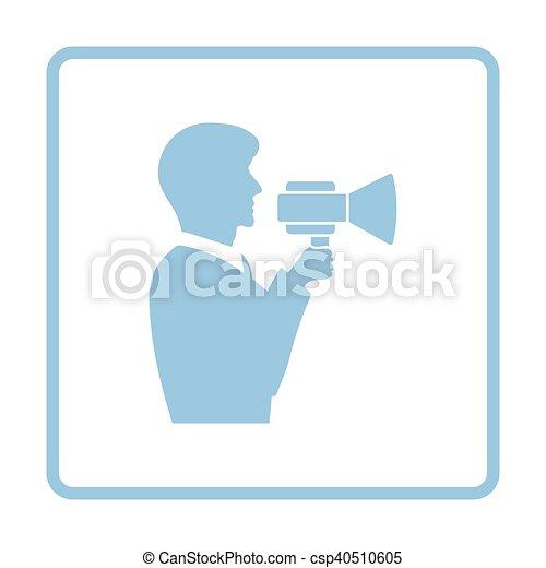 Hombre con ícono de boquilla - csp40510605