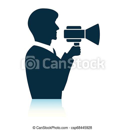 Hombre con ícono de boquilla - csp68445928