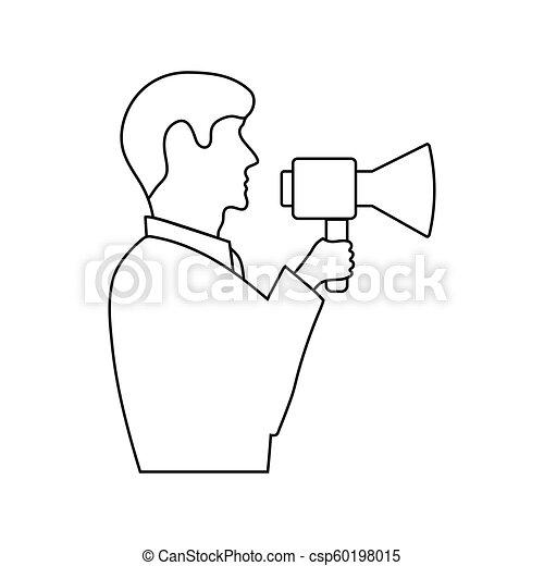 El ícono del hombre con protector bucal - csp60198015