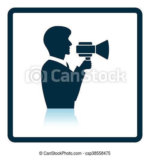 El ícono del hombre con protector bucal - csp38558475