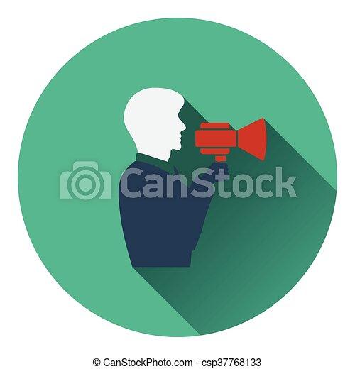 El ícono del hombre con protector bucal - csp37768133