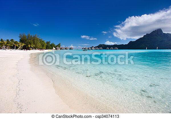 Bora Bora beach - csp34074113