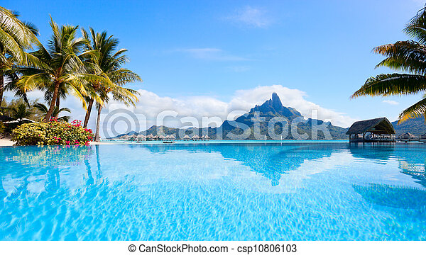Bora Bora landscape - csp10806103