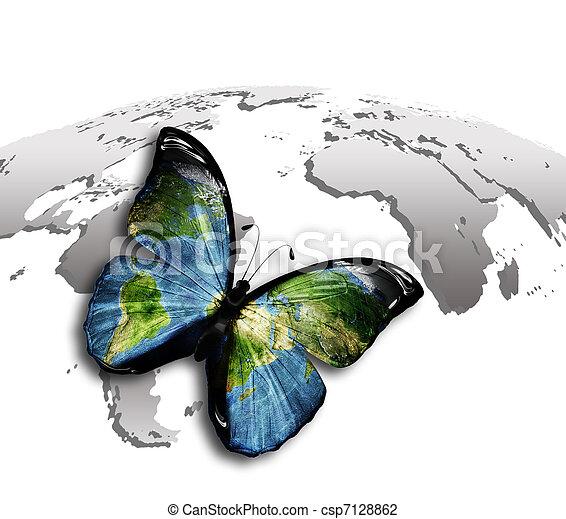 borboleta, mundo - csp7128862