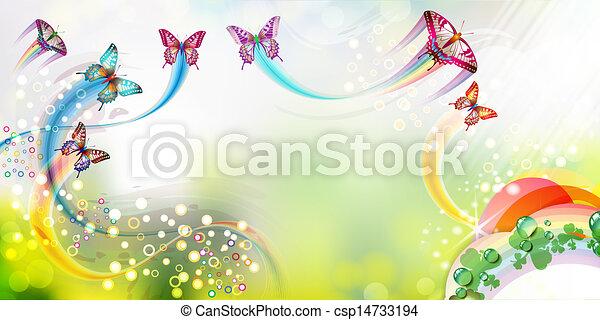 borboletas, fundo - csp14733194