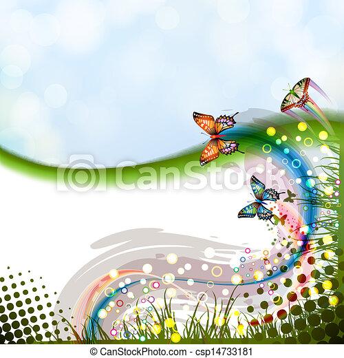 borboletas, fundo - csp14733181